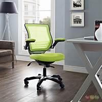green desk chair Edge Modern Adjustable Ergonomic Mesh Office Chair, Green
