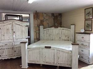 Texas Rustic Of Louisiana39s QuotAntique Whitequot Bedroom Group