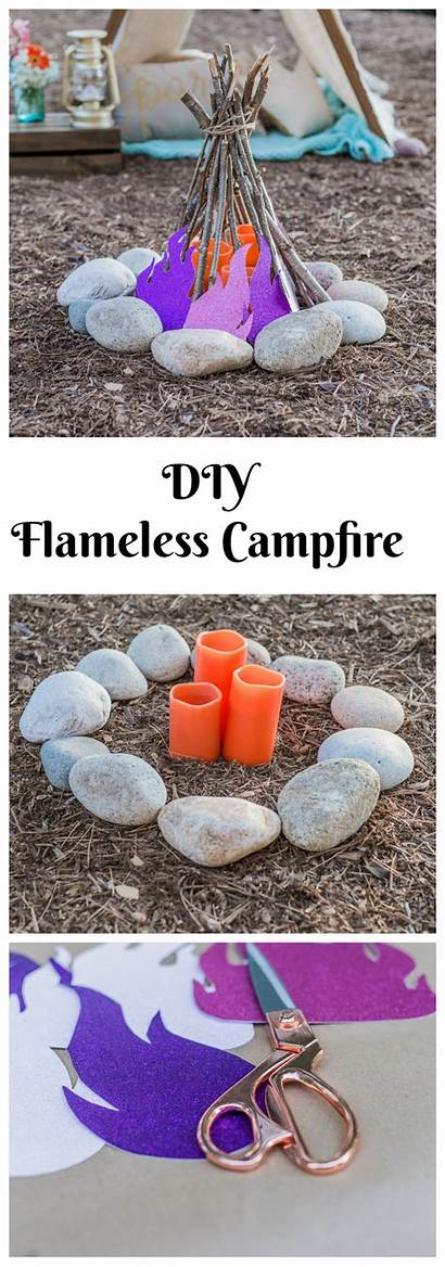 Glamping Camping Date Campfire Crafts Flameless Party