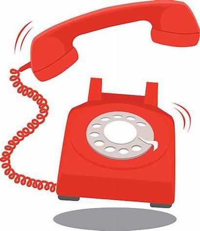 Telephone Clip Ringing Vector Illustrations