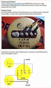 65 Barracuda Factory Tachometer Wiring