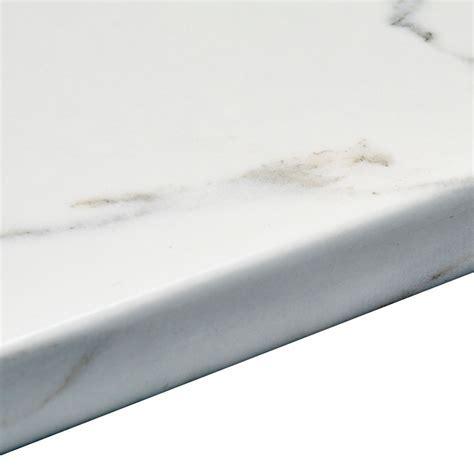 38mm Marble Veneto Brown Granite effect Round edge