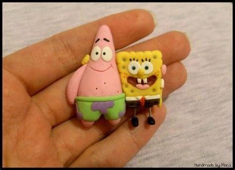 Spongebob and Patrick Clay crafts Sculpting clay Cute clay