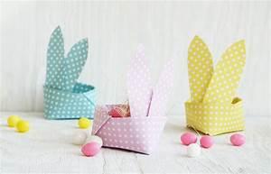 Hase Basteln Einfach : origami osterkorb als hase kostenlose vorlage kindergeburtstag blog ~ Orissabook.com Haus und Dekorationen