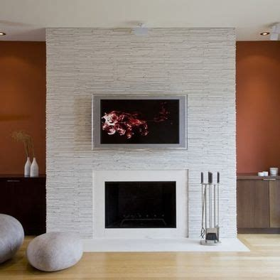 Stacked Stone, Linear Fireplace, Tv Design, Pictures