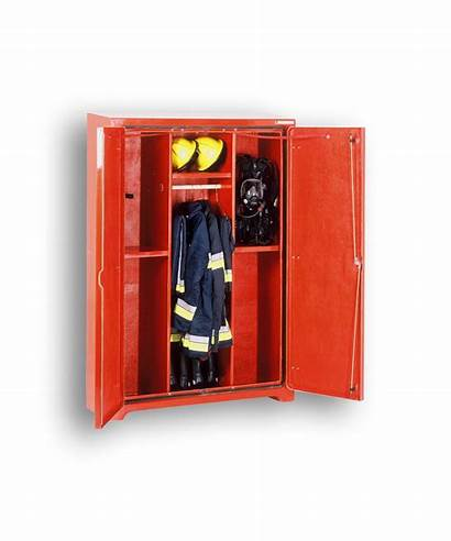 Cabinet Equipment Fire Firemans Cabinets Open Fighter