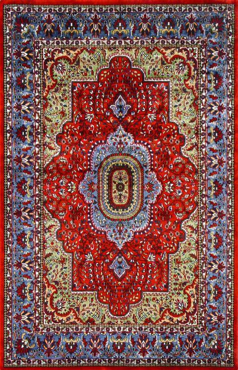 Silk Rugs by Carpets Middot Rugsville Kashmir Medallion Orange Light