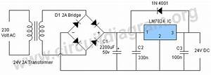 24v Dc Power Supply Using Lm7824 Ic