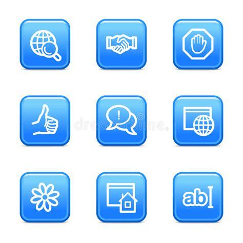 Iconos Del Web Del Internet Serie Azul De La Etiqueta