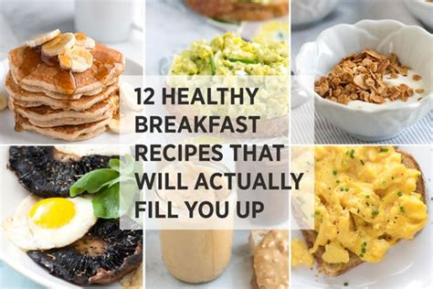 healthy easy breakfast recipes  fill
