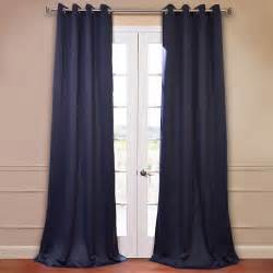 half price drapes eclipse navy 50 x 84 inch blackout curtain pair 2 panel