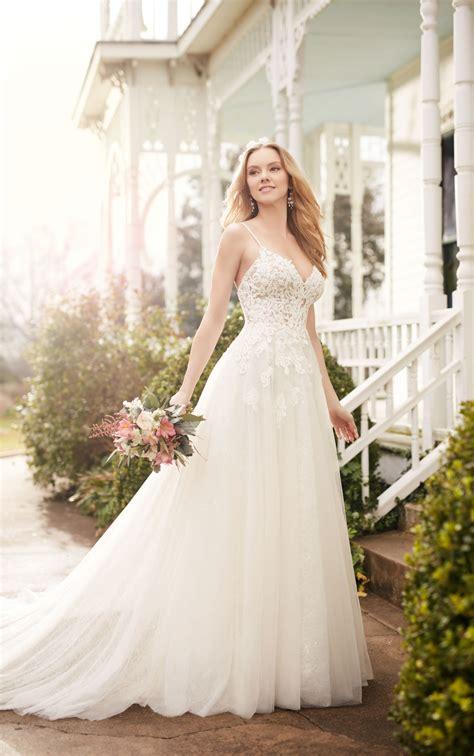 wedding dress  illusion lace bodice martina liana