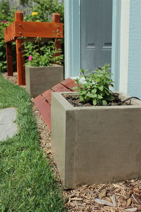 diy planter diy modern minimal concrete planter boxes