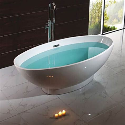 mm oval double ended freestanding bath