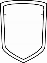 Shield Template Blank Badge Police Soccer Coloring Clipart Football Sheild Cliparts Outline Clip Crest Clker Vector Library Plain Pages Arms sketch template