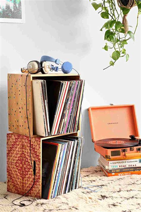 meuble rangement vinyle rangement vinyle fonctionnel et 233 l 233 gant en 35 id 233 es inspirantes