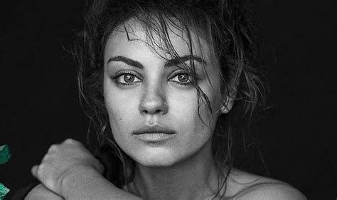 Newly Engaged Mila Kunis Shows Off Her Natural Beauty In