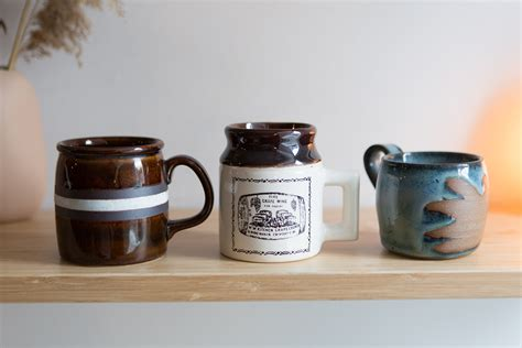 The top countries of suppliers are india, china, and hong kong. 3 Ceramic Mugs - Brown Vintage Mismatched Coffee or Tea Mugs