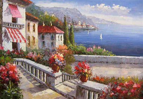 mediterranean landscapes mediterranean landscape mediterranean oil painting mediterranean garden landscape garden