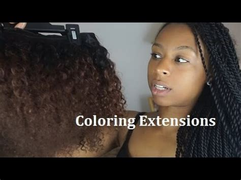 coloring extensions bleaching extensions youtube