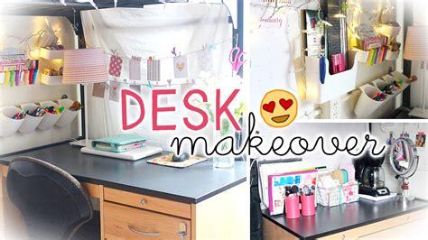 Desk Decoration by Desk Makeover Hacks Wall Storage Decor