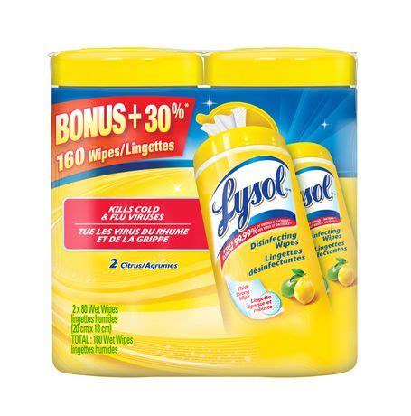 Lysol® Citrus Disinfectant Wipes Value Pack | Walmart Canada