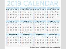 Printable Calendar 2019 Luxe Calendar