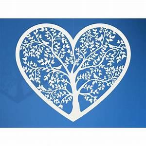 Arbre De Vie Deco : coeur papier arbre de vie blanc ~ Teatrodelosmanantiales.com Idées de Décoration