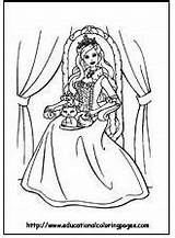 Pages Barbie Coloring Junkie sketch template
