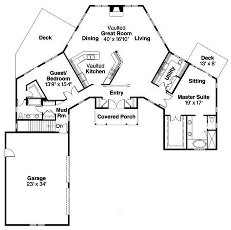 shaped house plans floor plans pinterest