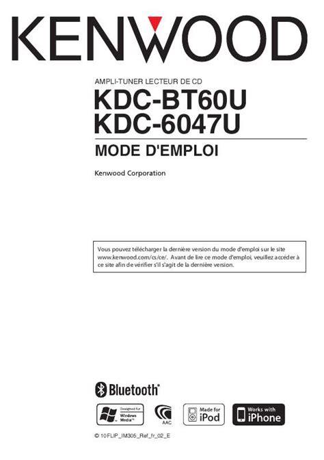 mode d emploi si鑒e auto trottine 185 avis pour le kenwood kdc bt60u d 233 couvrez le test