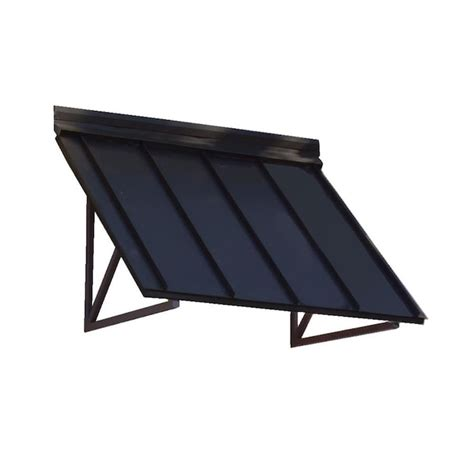 awntech houstonian   wide    projection black solid vertical patio fixed awning