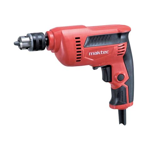 jual maktec drill variable speed heavy duty series mesin bor tangan 10 mm mt 606 orange