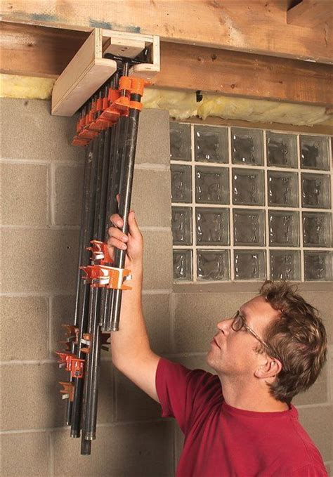 clamps pipe clamp storage idea workshop storage
