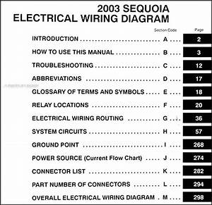 2003 Toyota Sequoia Wiring Diagram Manual Original