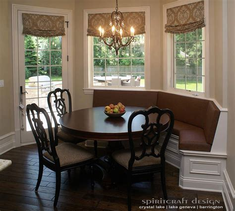 small kitchen interior design upholstery for chairs cushions banquettes in illinois
