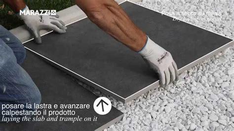 piastrelle posa a secco posa a secco su ghiaia gres 20 mm