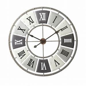 Horloge En Metal : horloge en m tal effet vieilli d 100 cm imprimerie maisons du monde ~ Teatrodelosmanantiales.com Idées de Décoration