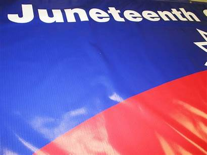 Juneteenth Banner Celebration Banners Signs Wide