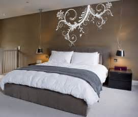 bedroom wall decor ideas fantastic brown bedroom wall with exciting white mural artistic design and amazing black shade