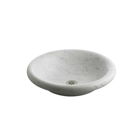kohler vessel sink faucets kohler botticelli vessels carrara marble vessel sink in