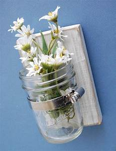 French cottage shabby chic wall vase glass jar