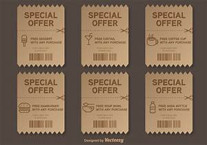 Free Drink Coupon Template Special Offer Vector Voucher Download Free Vectors
