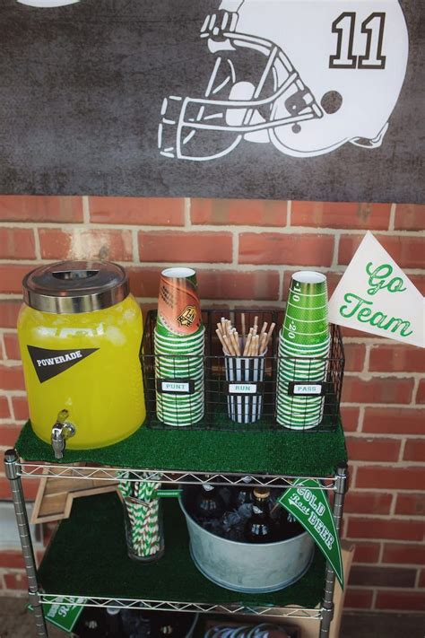 Football Decorations - tailgate football birthday sports ideas