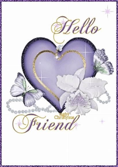 Hello Friend Glitter Graphics Hi Morning Text