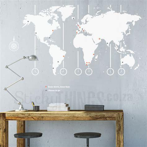 world map decal world map wall art stickythingscoza