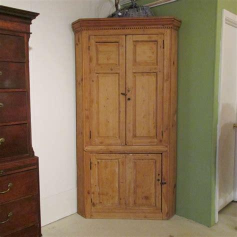 mid 19th c pine corner cupboard sold