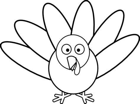 turkey template clipart turkey with feathers clip art at clker vector clip