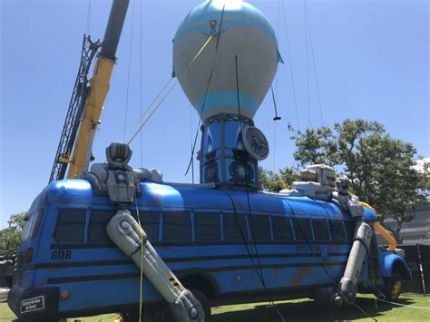 Inflatable battle bus that will be flying over LA for E3 ...