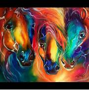 Colorful Wolf Paintings Oil Painting Color my  Colorful Wolf Painting